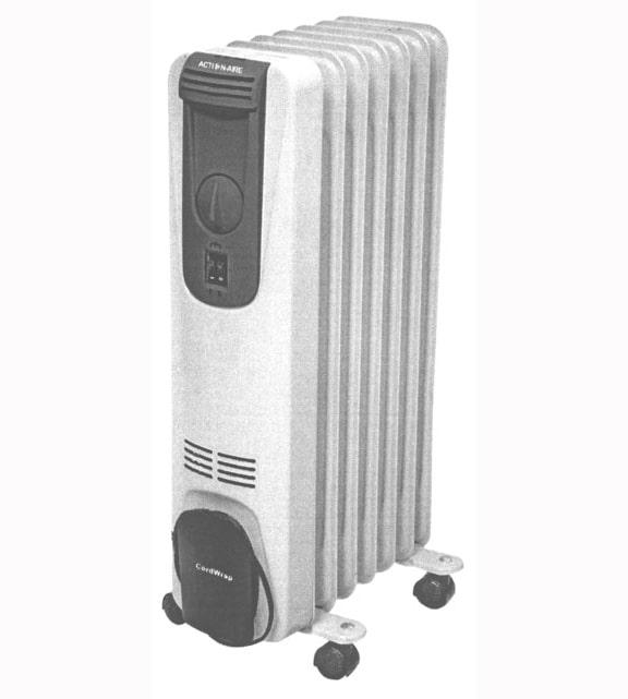 Action Aire AA-150 Oil Filled Radiator Heater 1500 Watt